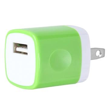 USB Home Wall Charger Travel Adapter for iOS and Android Mobile Devices, Green