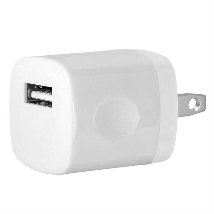 USB Home Wall Charger Travel Adapter for iOS and Android Mobile Devices, White