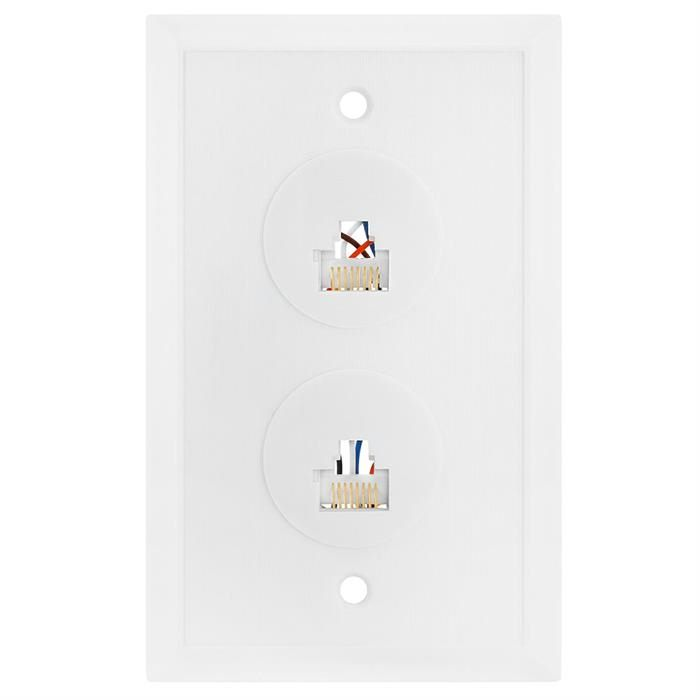 Wall Plate Jacks 8P8C Double White
