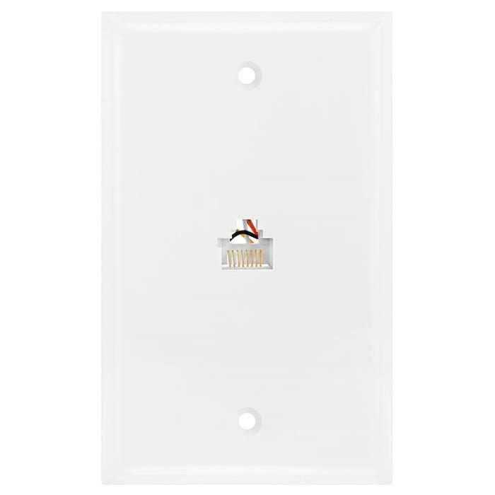 Wall Plate Jacks 8P8C Single White