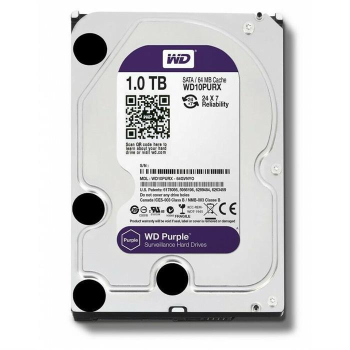 """HDD Purple 1TB 3,5"""" 64MB SATAIII/5400rpm Western Digital"""