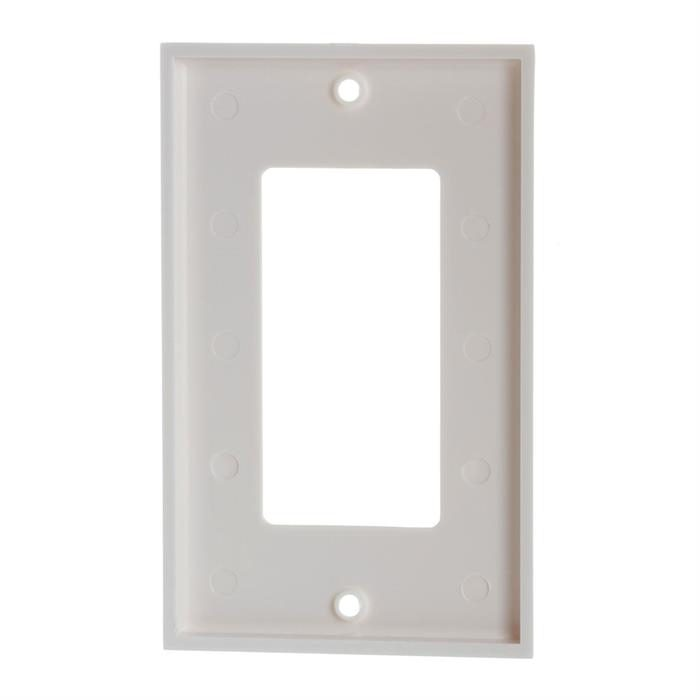 White Decora Wall Plate - 1-Gang