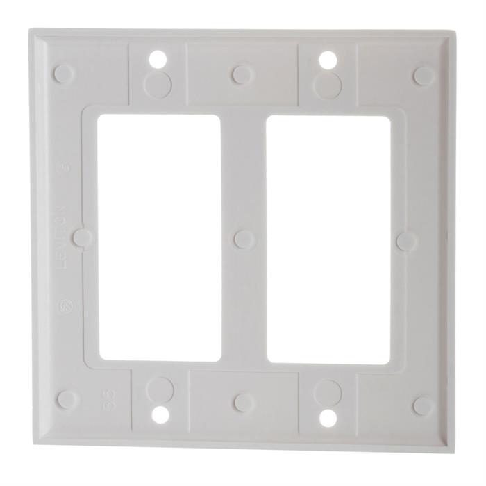 White Decora Wall Plate - 2-Gang