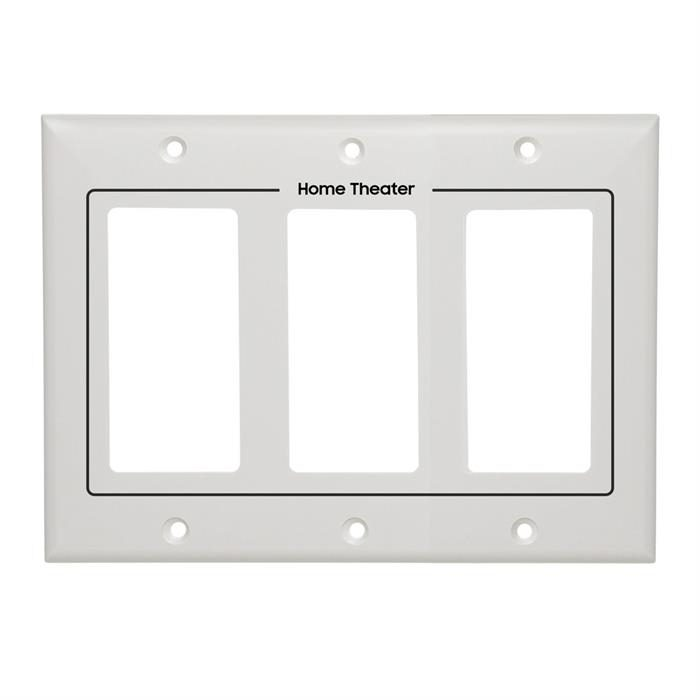 White Decora Wall Plate - 3-Gang