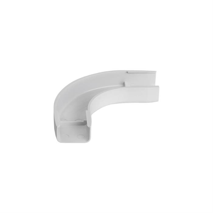 "Wire Trak Flat Elbow for Raceway PVC White, 3/4"" W x 1/2"" H"