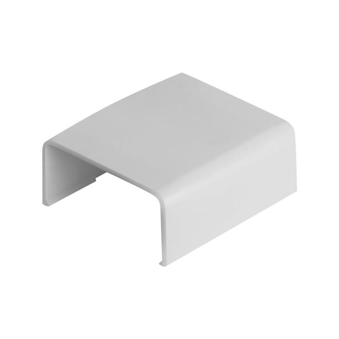 "Wire Trak Joint Cover for Raceway PVC White, 1 1/2"" W x 3/4"" H"