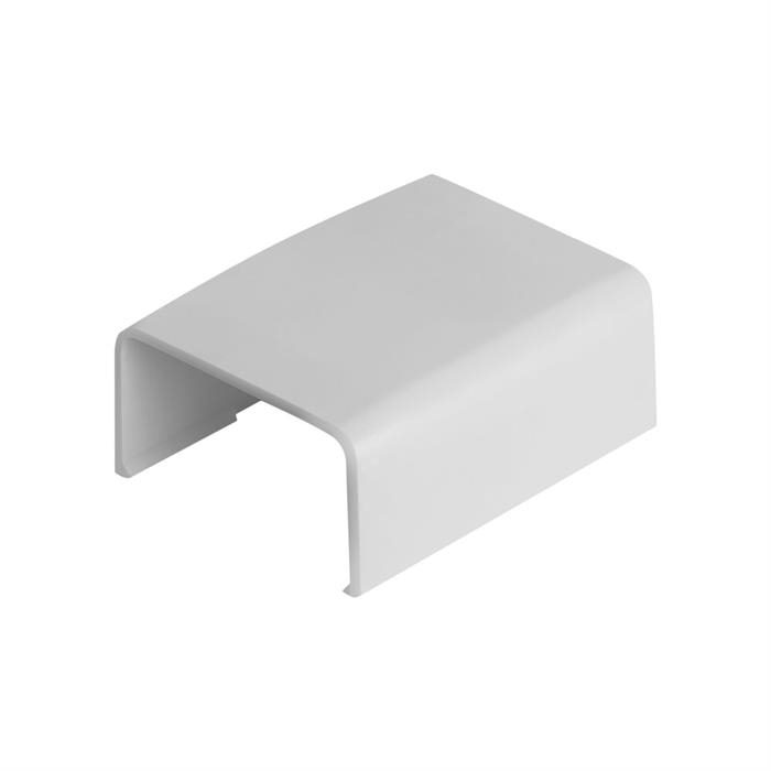 "Wire Trak Joint Cover for Raceway PVC White, 1"" W x 1/2"" H"