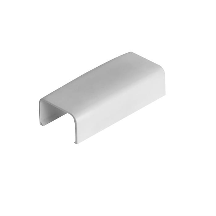 """Wire Trak Joint Cover for Raceway PVC White, 3/4"""" W x 1/2"""" H"""