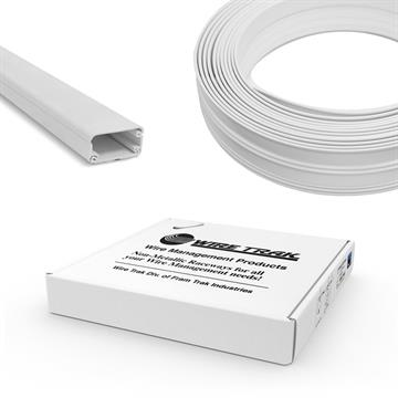 "Wire Trak On A Roll 3/4"" H x 1-1/2"" W - 50 FT, White, Raceway, Cable Management"